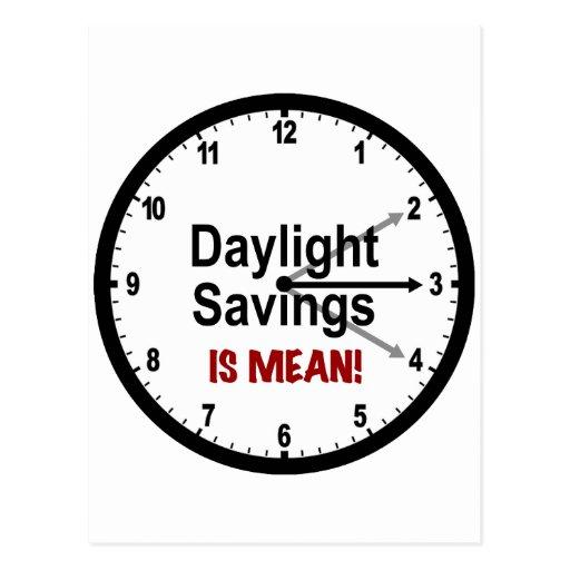 ¡Los ahorros de luz del día son malos! Postales