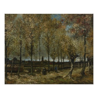 Los álamos acercan a Nuenen de Vincent van Gogh Cojinete