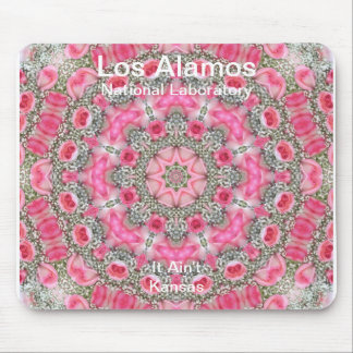 Los Alamos Baby's Breath and Pink Roses Star Field Mouse Pads