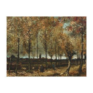 Los álamos de Vincent van Gogh acercan a Nuenen Impresión En Lona