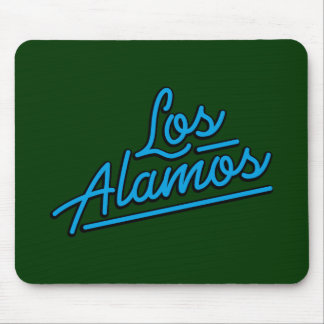 Los Alamos in cyan Mouse Pads