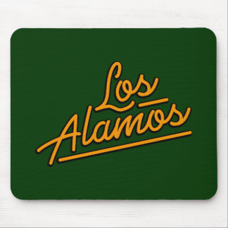 Los Alamos in orange Mouse Pads