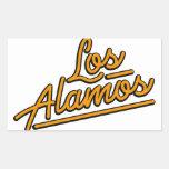 Los Alamos in orange Rectangle Sticker