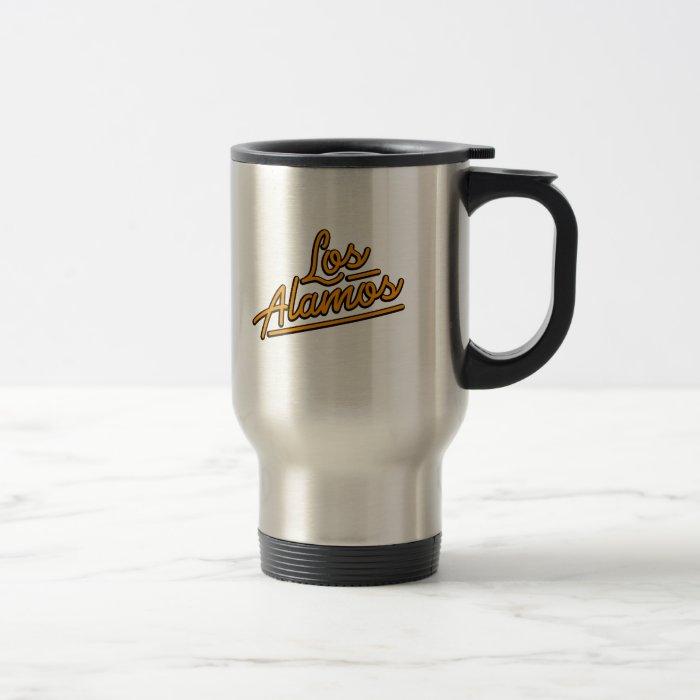 Los Alamos in orange Travel Mug