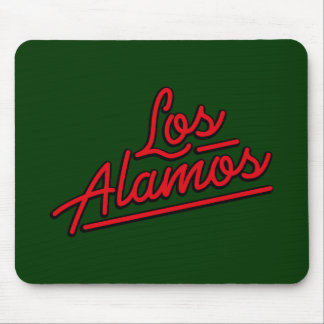 Los Alamos in red Mouse Pad