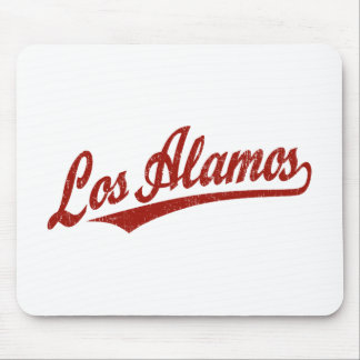 Los Alamos script logo in red distressed Mousepad