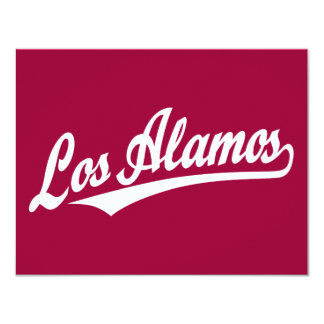 Los Alamos script logo in white Card