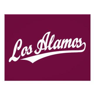Los Alamos script logo in white Flyer