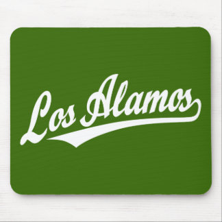 Los Alamos script logo in white Mouse Pad