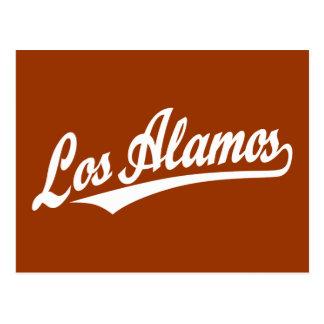 Los Alamos script logo in white Postcard