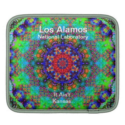 Los Alamos - Stained Glass Garden Beyond the Sun iPad Sleeves