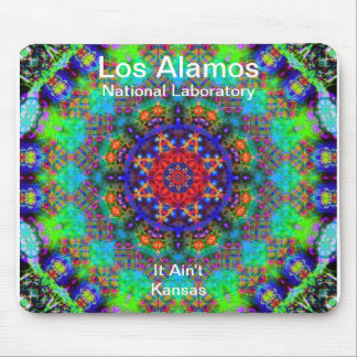 Los Alamos - Stained Glass Garden Beyond the Sun Mousepad