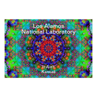 Los Alamos - Stained Glass Garden Beyond the Sun Posters
