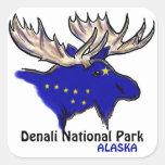 Los alces azules de Alaska del parque nacional de