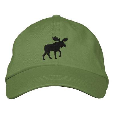 Los alces siluetean (el personalizable del color) gorras de beisbol bordadas