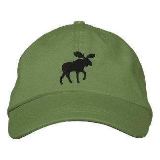 Los alces siluetean (el personalizable del color) gorra de beisbol