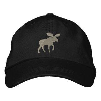 Los alces siluetean (el personalizable del color) gorra bordada
