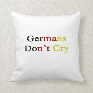Los alemanes no lloran almohada