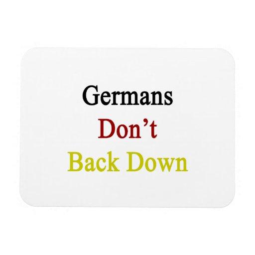 Los alemanes no retroceden iman rectangular