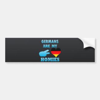 Los alemanes son mi Homies Etiqueta De Parachoque