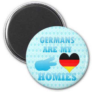 Los alemanes son mi Homies Imán Redondo 5 Cm