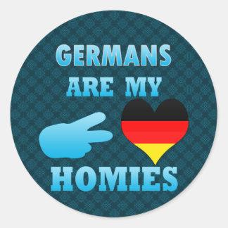 Los alemanes son mi Homies Pegatina Redonda