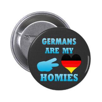 Los alemanes son mi Homies Pin Redondo 5 Cm