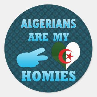 Los algerinos son mi Homies Pegatina Redonda