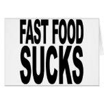 Los alimentos de preparación rápida chupan tarjeton