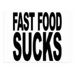Los alimentos de preparación rápida chupan tarjeta postal