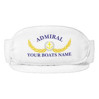 Los almirantes personalizaron el adorno conocido visera