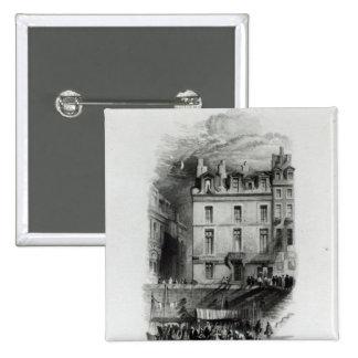 Los alojamientos de Napoleon en el Quai Conti, 183 Pin Cuadrada 5 Cm
