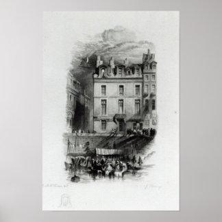Los alojamientos de Napoleon en el Quai Conti, 183 Póster