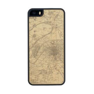 Los alrededores de París Funda De Arce Carved® Para iPhone 5 Slim