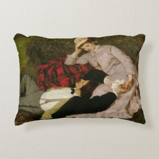 Los amantes, 1870 cojín decorativo