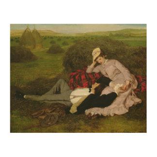 Los amantes, 1870 cuadros de madera