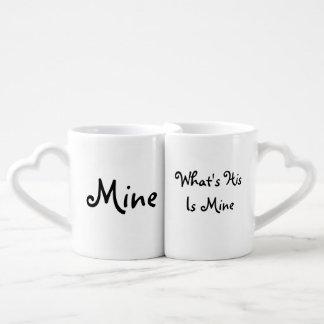 Los amantes asaltan cuál es el suyo es el mío taza amorosa