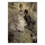 Los amantes, c.1875 tarjeton
