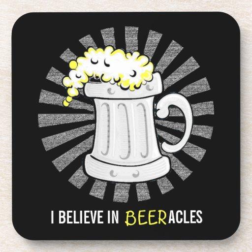 Los amantes de la cerveza creen en Beeracles Posavasos De Bebida