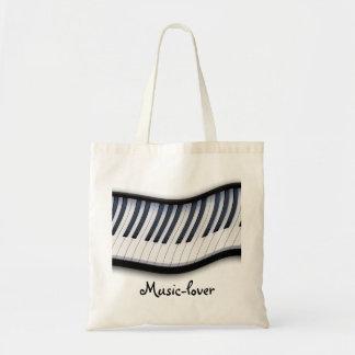 Los amantes de la música de las LLAVES del PIANO Bolsa Tela Barata