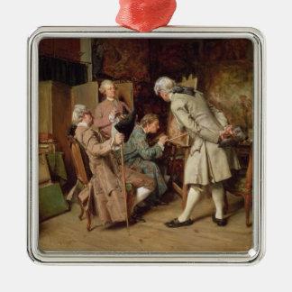 Los amantes del arte, o el pintor, 1860 (el panel) adorno para reyes