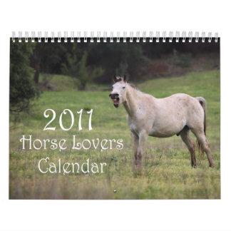 Los amantes del caballo hacen calendarios el