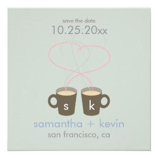 Los amantes del café ahorran la fecha anuncio personalizado