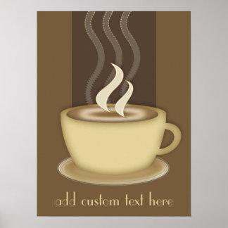 Los amantes del café personalizaron el poster