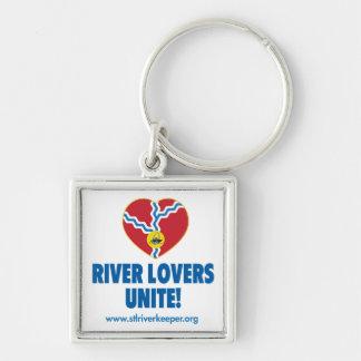 Los amantes del río unen llavero