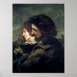 Los amantes felices, 1844 póster