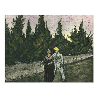 Los amantes, Vincent van Gogh Postal