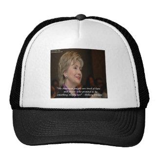 Los americanos de Hillary Clinton son cita cansada Gorro