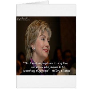 Los americanos de Hillary Clinton son cita cansada Tarjeta De Felicitación