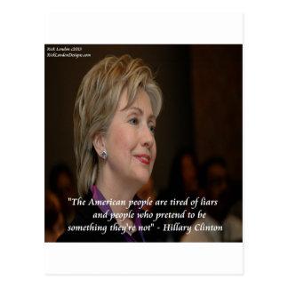 Los americanos de Hillary Clinton son cita cansada Tarjetas Postales